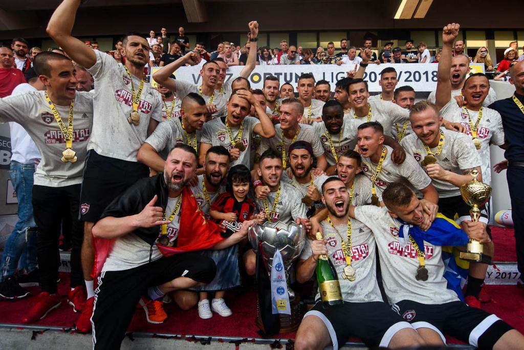Oslavy ligového titulu Spartaka Trnava
