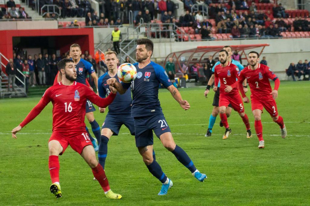 Kvalifikácia na EURO 2020 : Slovensko – Azerbajdžan 2:0